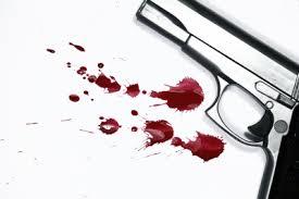 pistola, arma, sangre
